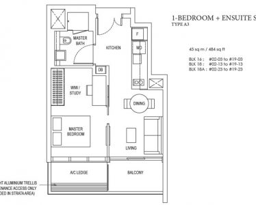 amber-park-1-bedroom-ensuite-floorplan-type-a3